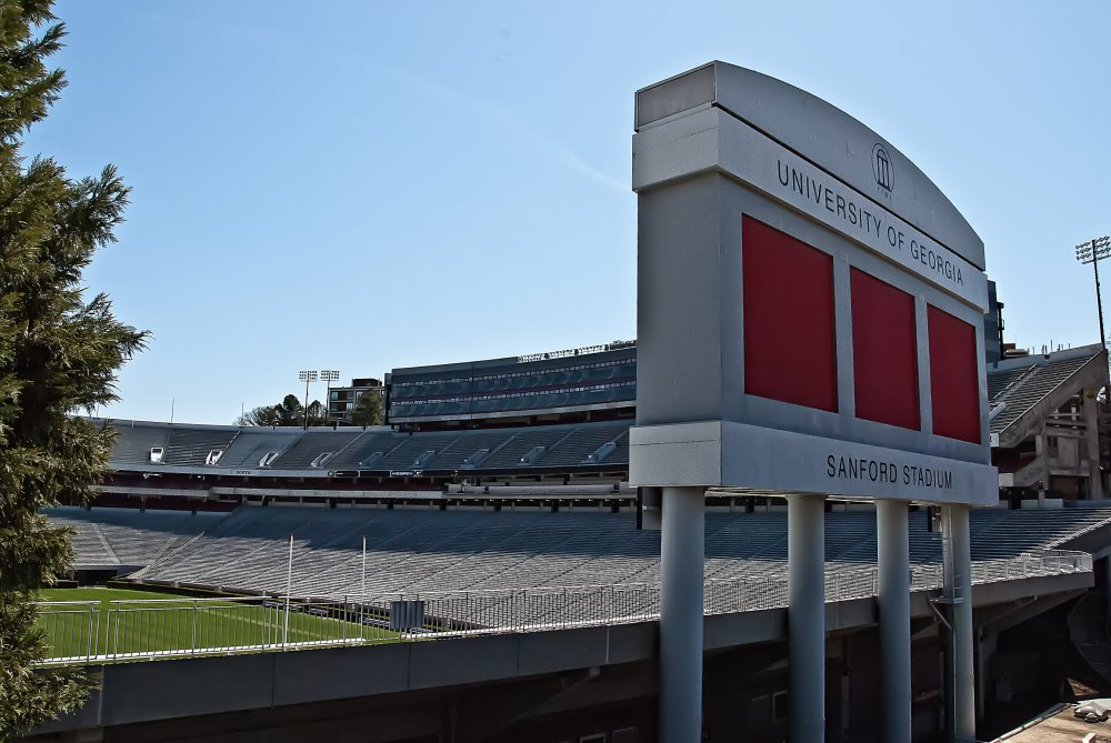 sanford stadium brickwork
